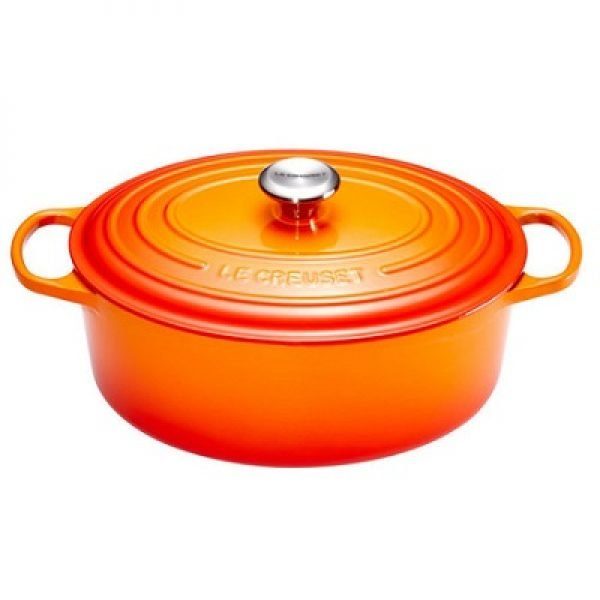 LE CREUSET - Signature - Braadpan Ovaal Oranjerood 40cm