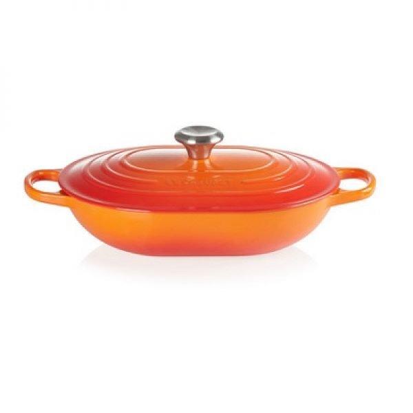 LE CREUSET - Signature - Braadpan Oblong Oranjerood 31cm