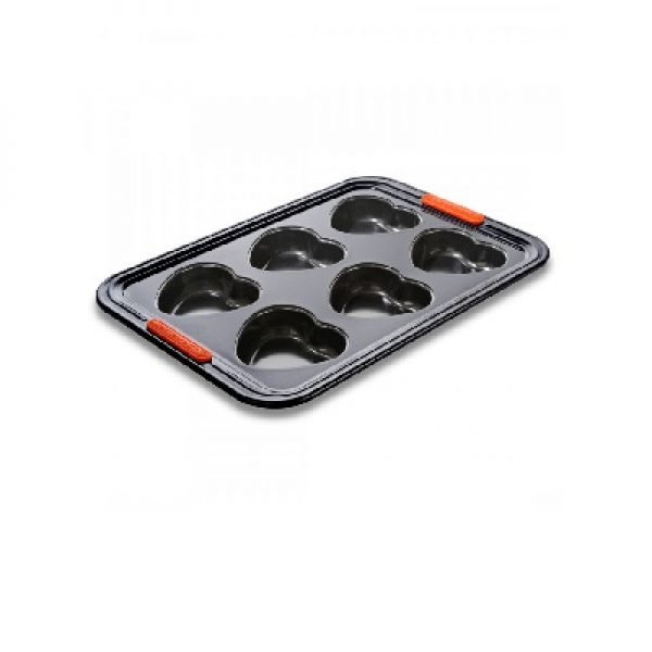 LE CREUSET - Patiliss - Muffinvormpjes hart 6 stuks