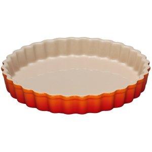 LE CREUSET - Aardewerk - Taartvorm Oranjerood 24cm