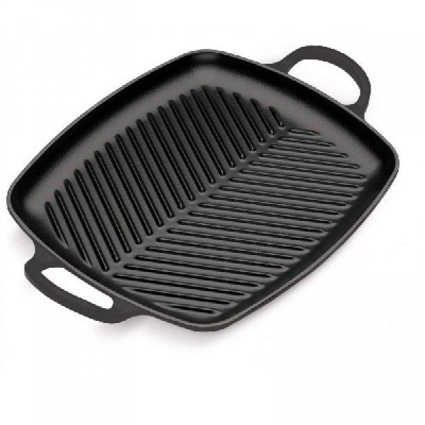 LE CREUSET - Grills - Grill 2 grepen 30cm Zwart