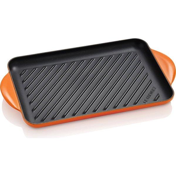 LE CREUSET - Gietijzer - Gietijzeren rechthoekige grill oran