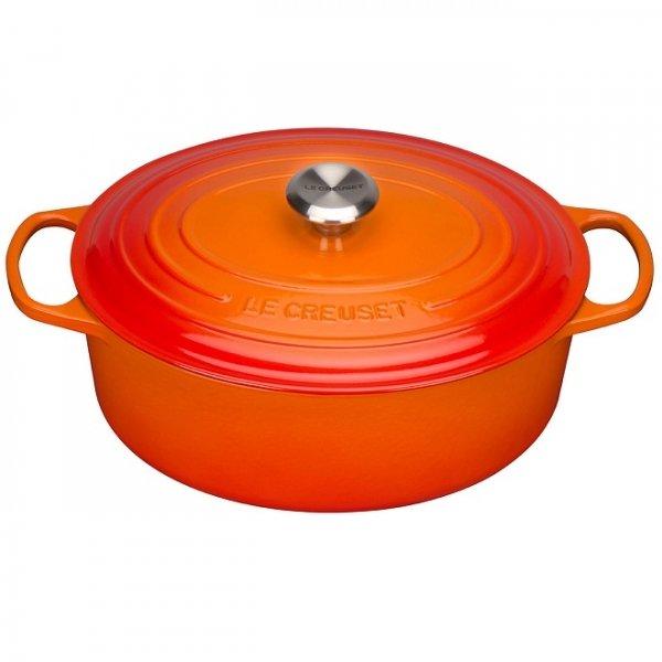 LE CREUSET - Signature - Ovale Braadpan 27cm Oranje-rood