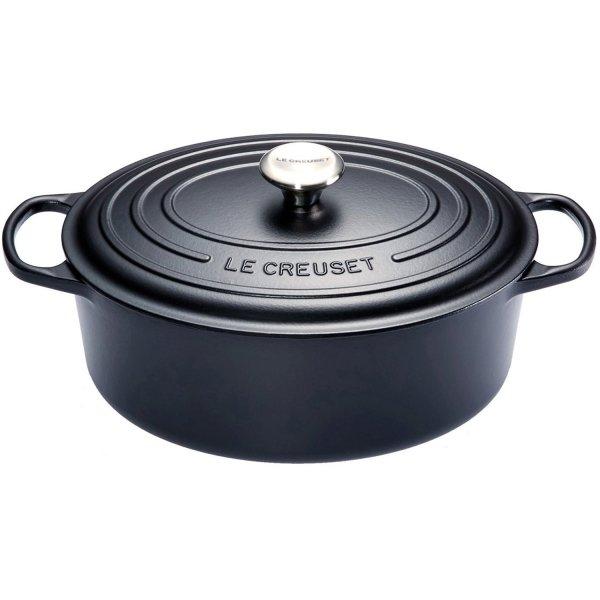 LE CREUSET - Signature - Ovale Braadpan 31cm Mat Zwart