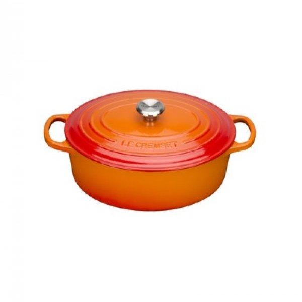 LE CREUSET - Signature - Braadpan ovaal Oranjerood 35cm
