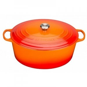 LE CREUSET - Signature - Braadpan ovaal Oranjerood 33cm