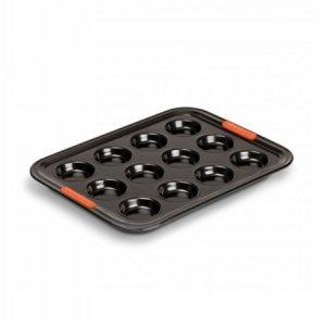 LE CREUSET - Patiliss - Bakvorm 12 mini cakes 34cm Zwart